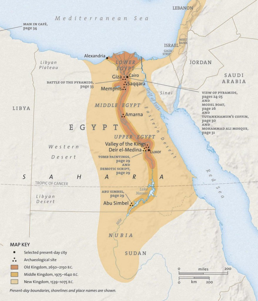 Patterns In Ancient Civilizations Locations And Places - Map of egypt national geographic