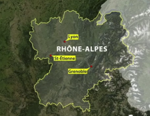Rhone Alps locator
